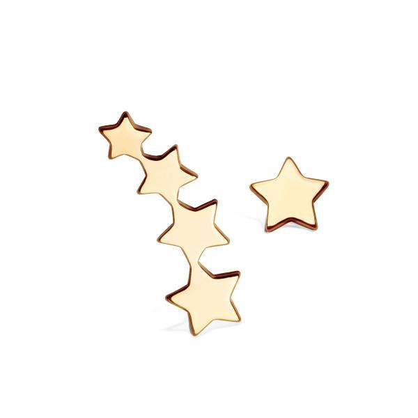 Zdjęcie Night Sky - kolczyki srebrne pokryte złotem #1