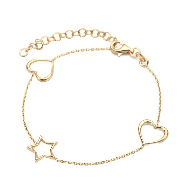 Zdjęcie Night Sky - bransoletka srebrna pokryta złotem #1