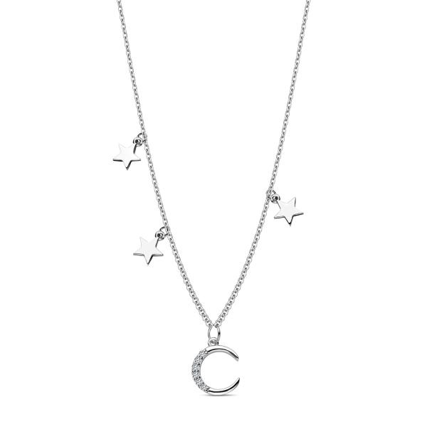 Zdjęcie Night Sky - naszyjnik srebrny z cyrkoniami #1