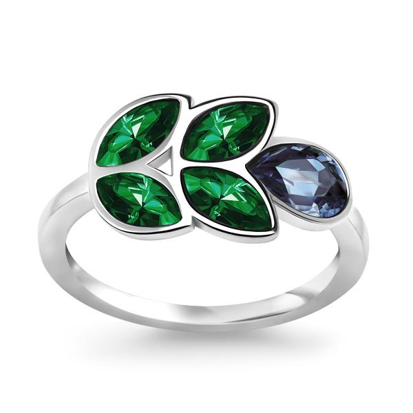 Zdjęcie Pavoni - pierścionek srebrny z kryształami Swarovskiego #1