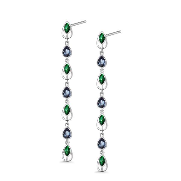 Zdjęcie Pavoni - kolczyki ze srebra z kryształami Swarovskiego #1
