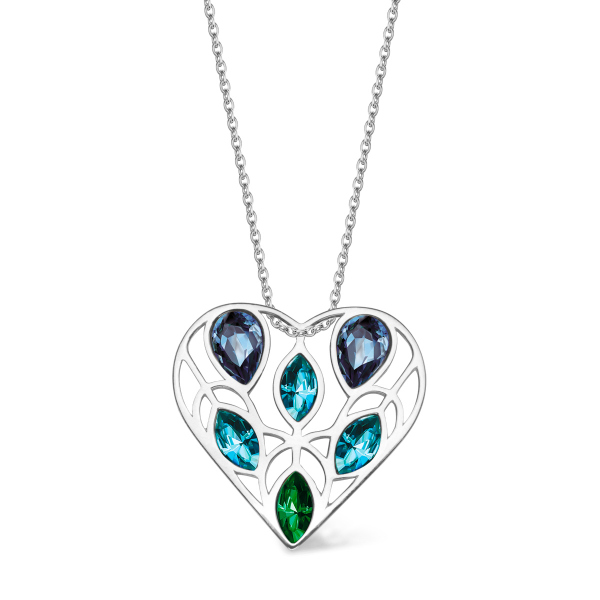 Zdjęcie Pavoni - naszyjnik ze srebra z kryształami Swarovskiego #1
