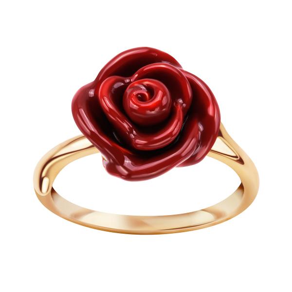 Srebrny Pierścionek Z Motywem Róży Od Yes