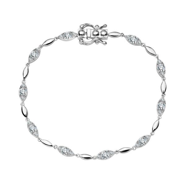 Zdjęcie Scarlett - bransoletka ze srebra z cyrkoniami #1