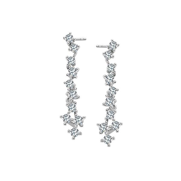 Zdjęcie Scarlett - kolczyki srebrne z cyrkoniami #1
