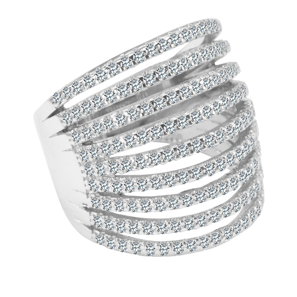 Zdjęcie Scarlett - pierścionek srebrny z cyrkoniami #1