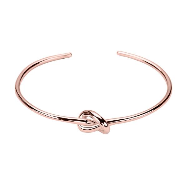 Zdjęcie Simple - bransoletka srebrna pokryta różowym złotem #1