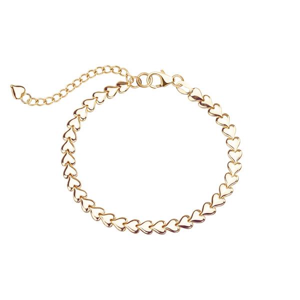 Zdjęcie Simple - bransoletka srebrna pokryta złotem #1