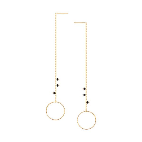 Zdjęcie Mystery - kolczyki srebrne pokryte złotem #1