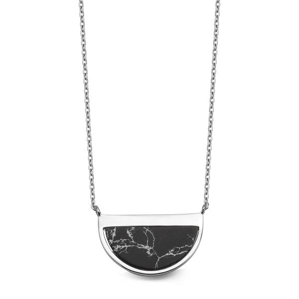 Zdjęcie Talisman - naszyjnik srebrny z howlitem #1