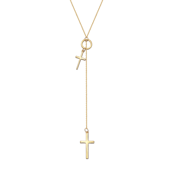 Zdjęcie Simple - naszyjnik srebrny pokryty złotem #1