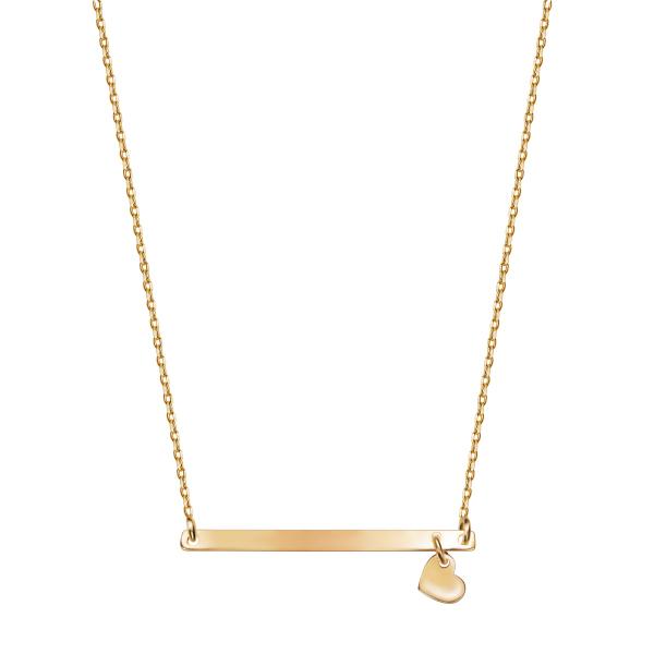 Zdjęcie Naszyjnik srebrny pokryty żółtym złotem #1