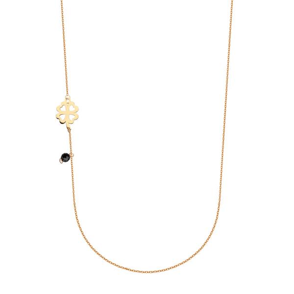 Zdjęcie Naszyjnik srebrny pokryty żółtym złotem z cyrkoniami #1