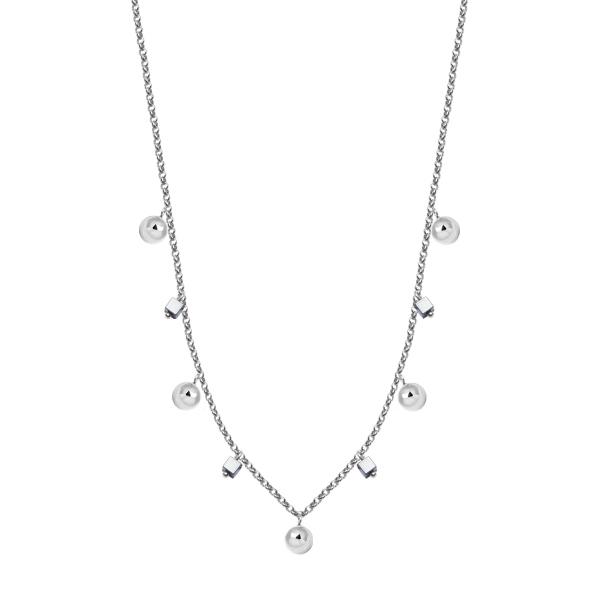 Zdjęcie Naszyjnik srebrny z hematytem #1