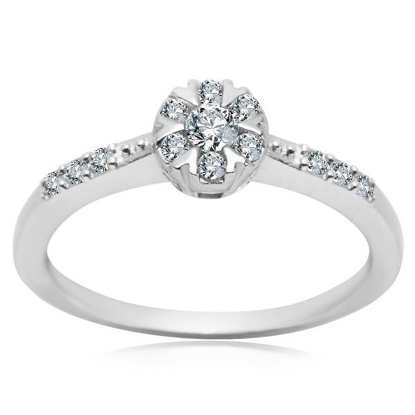 Zdjęcie Scarlett - pierścionek ze srebra z cyrkoniami #1