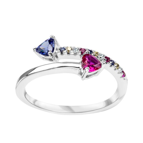 Zdjęcie Bloom - pierścionek srebrny z cyrkoniami #1