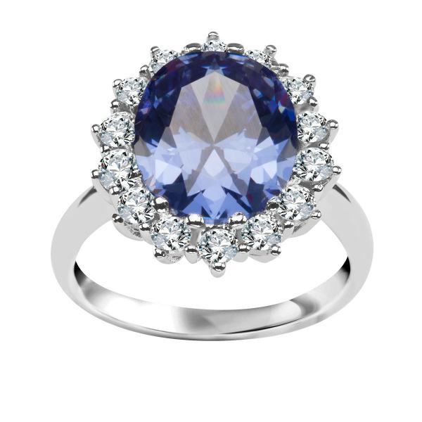 Zdjęcie Srebrny pierścionek z cyrkoniami #1