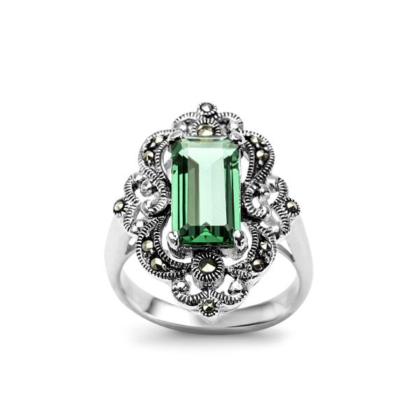 Zdjęcie Srebrny pierścionek z markazytem #1