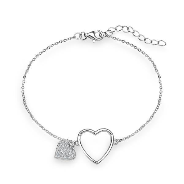 Zdjęcie Unique - bransoletka srebrna z cyrkoniami #1