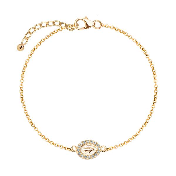 Zdjęcie Unique - bransoletka srebrna pokryta złotem z cyrkoniami #1