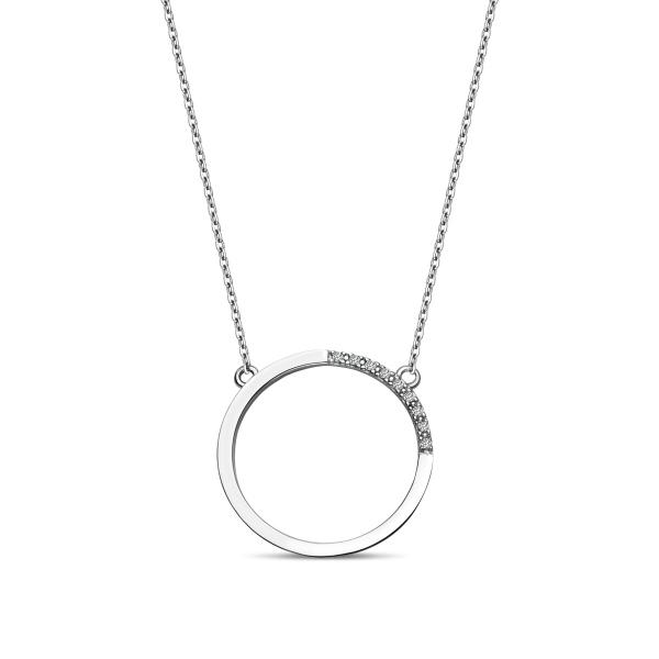Zdjęcie Unique - naszyjnik ze srebra z cyrkoniami #1