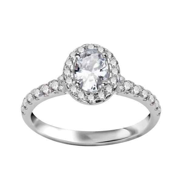 Zdjęcie Unique - pierścionek ze srebra z cyrkoniami #1