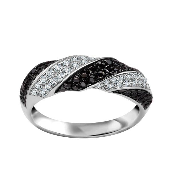 Zdjęcie Unique - srebrny pierścionek z cyrkoniami #1