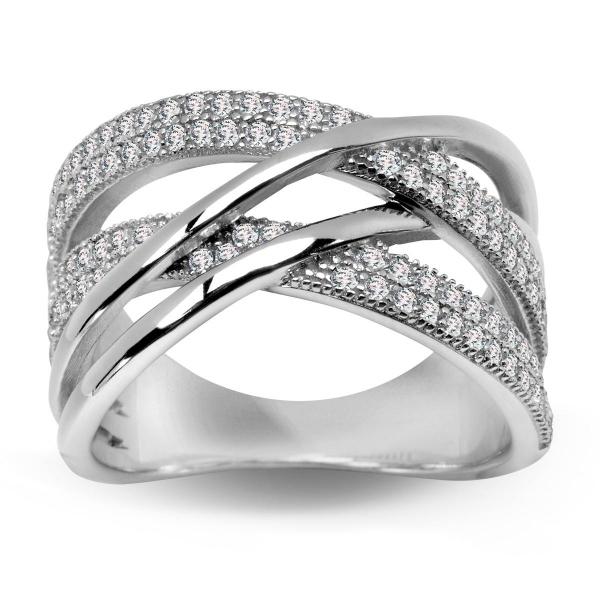 Zdjęcie Scarlett - srebrny pierścionek z cyrkoniami #1