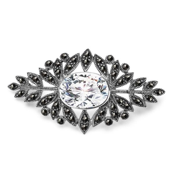 srebrna-broszka-z-markazytami-1