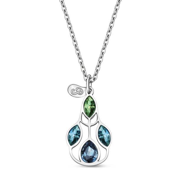 Zdjęcie Pavoni - naszyjnik srebrny z kryształami Swarovskiego #1