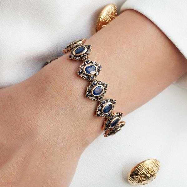 bransoletka-złota-z-diamentami-i-szafirami-kolekcja-wiktoriańska-2