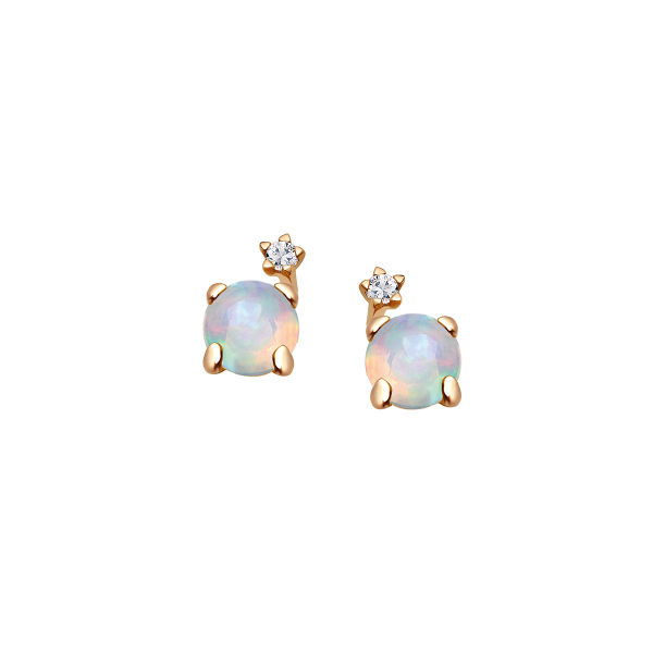 Zdjęcie Cassiopeia - kolczyki złote z diamentami i opalami #1