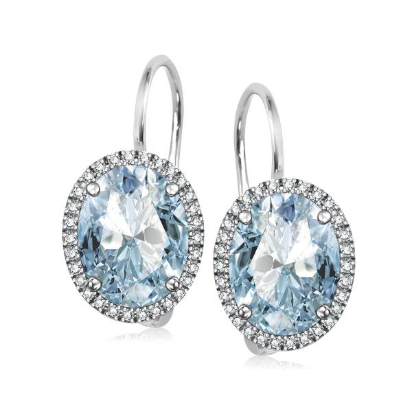 Zdjęcie Jubilé - kolczyki z Błękitnym Topazem i diamentami #1