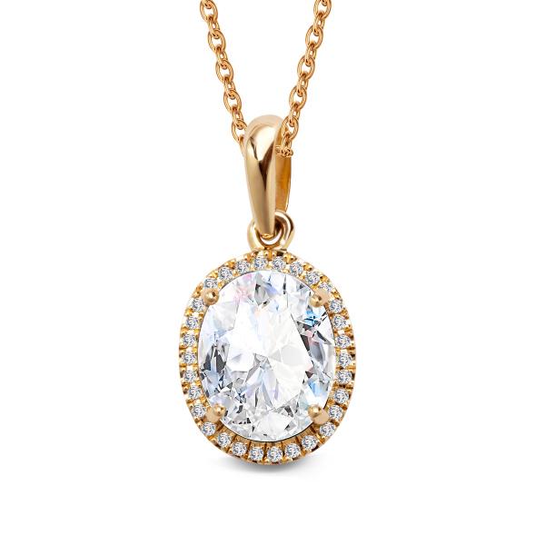 Zdjęcie Jubilé - zawieszka złota z diamentami i topazem #1