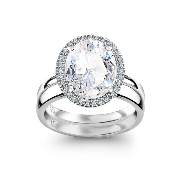 Zdjęcie Jubilé - pierścionek z białego złota z diamentami i topazem #5