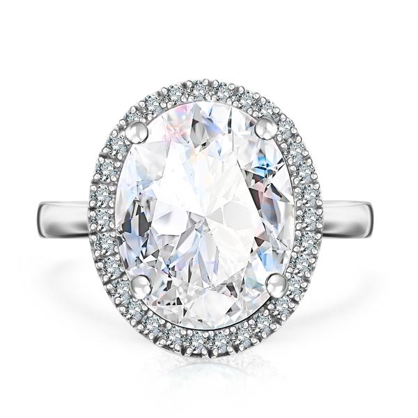 Zdjęcie Jubilé - pierścionek z białego złota z diamentami i topazem #2