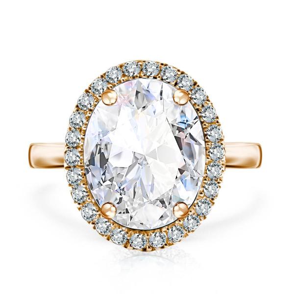 Zdjęcie Jubilé - złoty pierścionek z topazem i diamentami #1