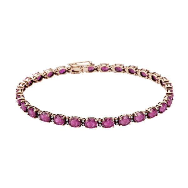 Zdjęcie Kolekcja Wiktoriańska - bransoletka złota z diamentami i rubinami #1
