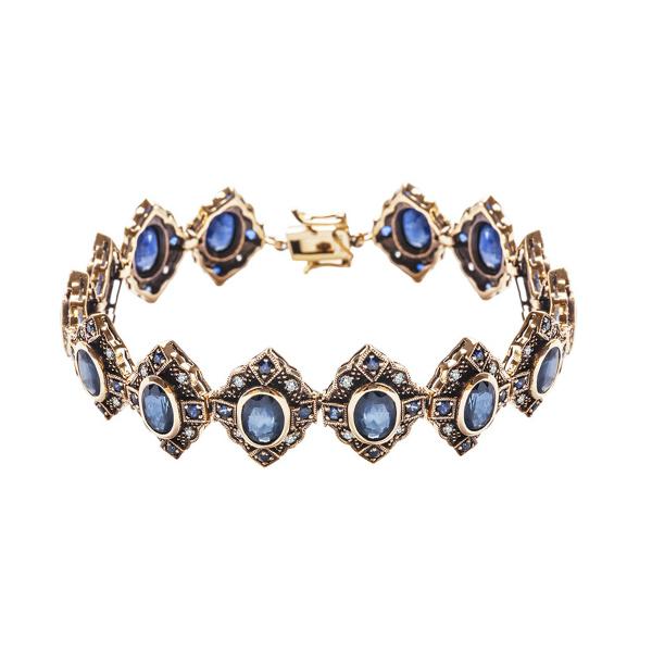 kolekcja-wiktoriańska-bransoletka-złota-z-diamentami-i-szafirami-1