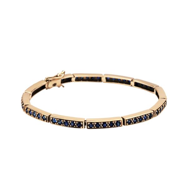 Zdjęcie Kolekcja Wiktoriańska - bransoletka złota z szafirami #1
