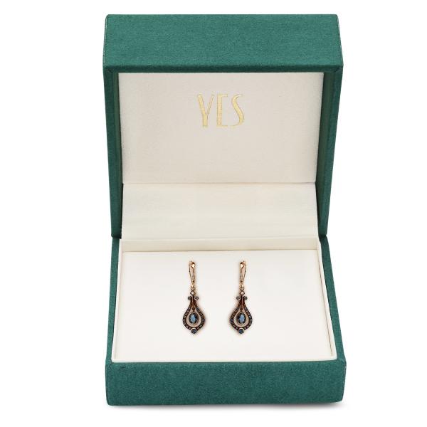 Zdjęcie Kolekcja Wiktoriańska - kolczyki z diamentami i szafirami #2