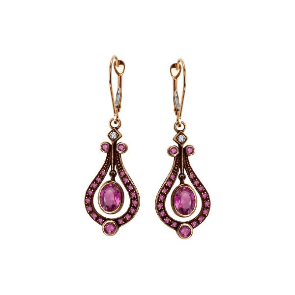 kolczyki-złote-z-diamentami-i-rubinami-kolekcja-wiktoriańska-1
