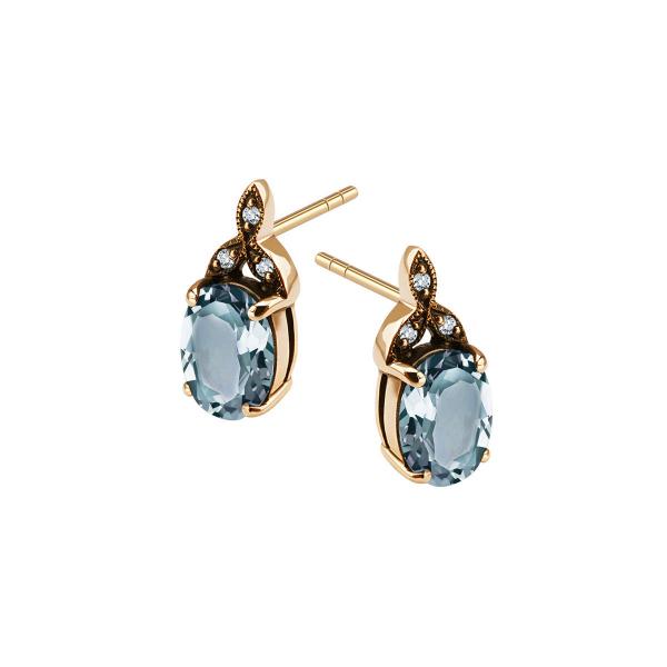 Zdjęcie Kolekcja Wiktoriańska - kolczyki złote z diamentami i topazami #1