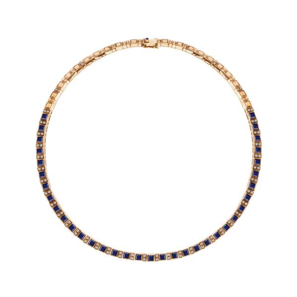 Zdjęcie Kolekcja Wiktoriańska - naszyjnik złoty z diamentami i szafirami #1