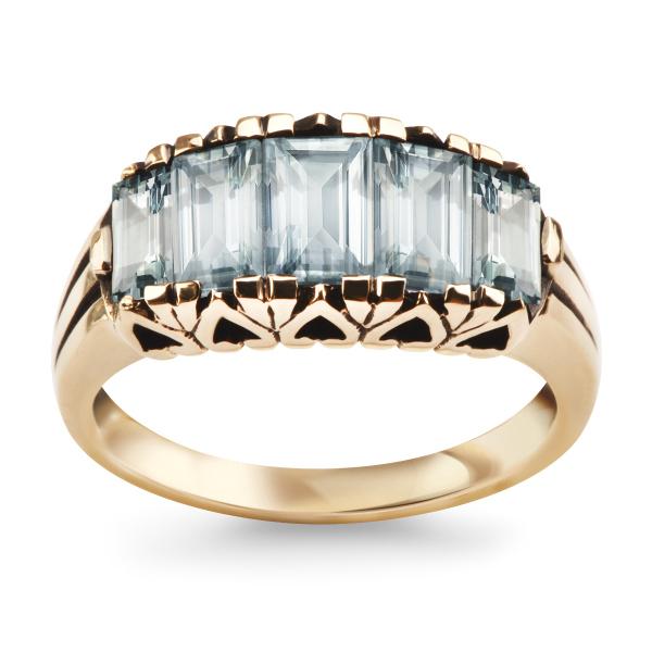 Zdjęcie Kolekcja Wiktoriańska - pierścionek z akwamarynem #1