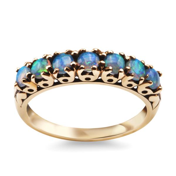 Zdjęcie Kolekcja Wiktoriańska - pierścionek złoty z opalem #1