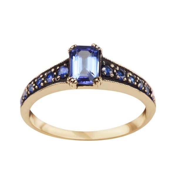 pierścionek-złoty-z-tanzanitem-i-szafirami-kolekcja-wiktoriańska-1