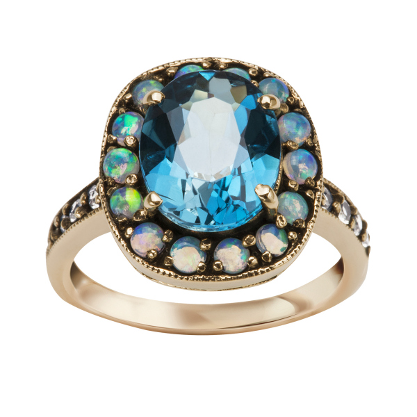 Zdjęcie Kolekcja Wiktoriańska - pierścionek z topazem #1