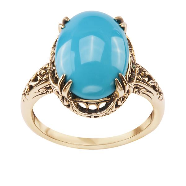 pierścionek-złoty-z-turkusem-kolekcja-wiktoriańska-1