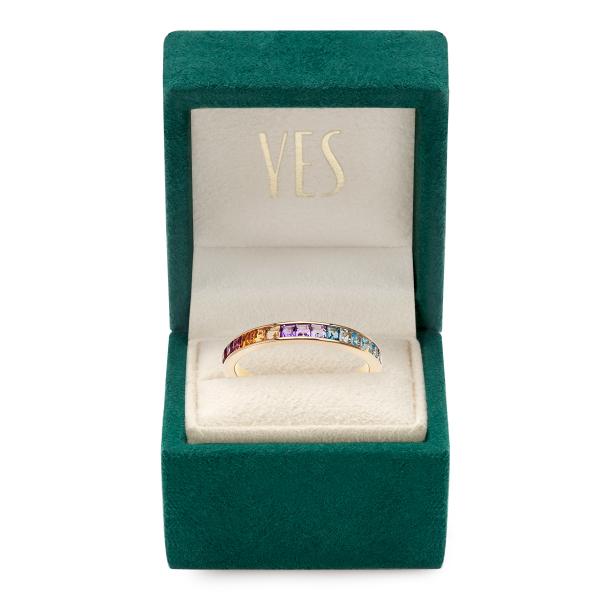 Zdjęcie Liberty - złoty pierścionek z kamieniami #2